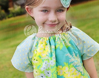 CHILDREN -Peasant Mini Dress - Heather Bailey - Nicey - Pick the size Newborn up to 12 Years - by Boutique Mia
