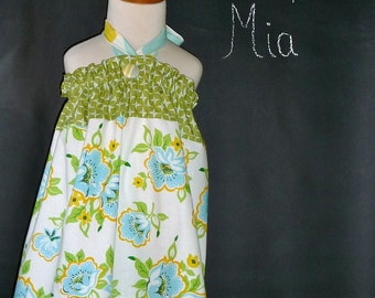 Halter Pillowcase DRESS - Heather Bailey - Nicey - 2 Years of Fashion - Pick the size Newborn up to 12 Years - by Boutique Mia