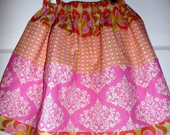 Skirt - Amy Butler - Park Fountains in Pink - Pick the size Newborn up to 12 Years by Boutique Mia