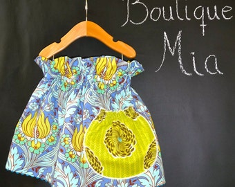 CHILDREN -Paper Bag SKIRT - Amy Butler - Soul Blossoms - Pick the size Newborn up to 12 Years by Boutique Mia