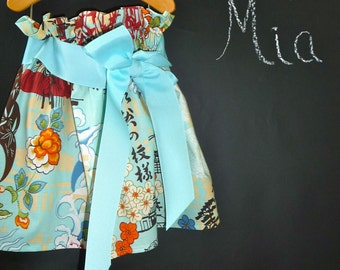 Paper Bag SKIRT and SASH - Alexander Henry - Koto - Pick the size Newborn up to 12 Years by Boutique Mia