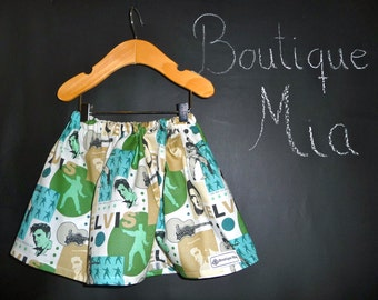 BUY 2 get 1 FREE - Skirt - Elvis - Pick the size Newborn up to 14 Years by Boutique Mia