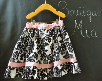 Extra full Skirt  - Michael Miller - Delovely Damask - Pick the size Newborn up to 12 Years by Boutique Mia