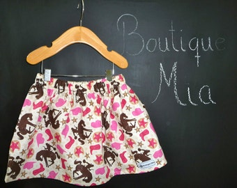 BUY 2 get 1 FREE - Skirt - Cowgirls - Pick the size Newborn up to 14 Years by Boutique Mia
