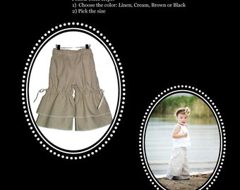 "Design your own ""Vintage Style PANTS"" - Pick the size Newborn up to 8 Years - by Boutique Mia"