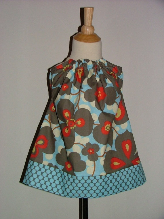 Pillowcase DRESS - Amy Butler - Morning Glory - 2 Years of Fashion - Pick the size Newborn up to 12 Years - by Boutique Mia