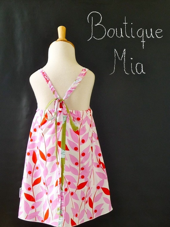 Aline Apron DRESS - Heather Bailey - Nicey - 2 Years of Fashion - Pick the size Newborn up to 12 Years - by Boutique Mia
