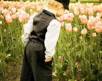 "SALE - Dutch Boy with Tulips Framed Print  24 x 36"" In Stock"