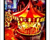Tiny Carousel 5x5 Metallic Photograph - iPhone Photography