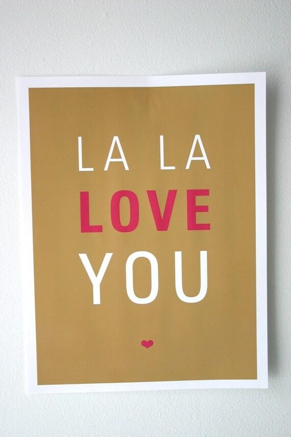 La La Love You Print 8.5 x 11 Brown