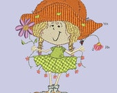 Flower Girls Machine Embroidery Designs