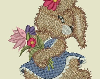 Realistic Bunnies Machine Embroidery Designs