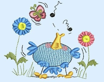 Birds & Butterflies Set Machine Embroidery Designs