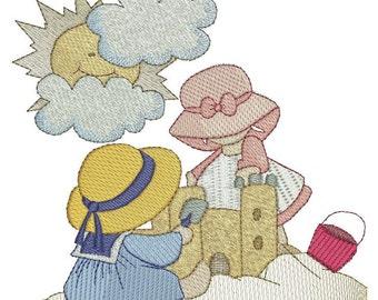 Bonnet Beach Kids Machine Embroidery
