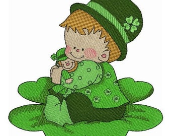 Irish Lace and Smiling Faces Machine Embroidery