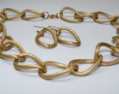 RESERVED 4 rachietanya Chunky Chain Choker Bracelet And Earring Set Ships FREE  In USA