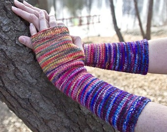 Knitting Pattern for Freemans Alley Mitts Armwarmers