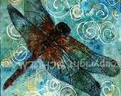 Dragonfly Art watercolor print | FRAMEABLE PRINT