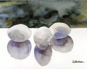 Surrealist Egg Painting by Miriam Schulman