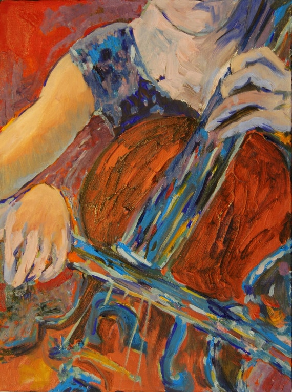 Cello Oil Painting