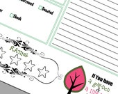 60% OFF SALE!! Editable and Printable Reading Journal Log Garden and Library
