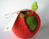 Apple Jacket - Hand Knit Red
