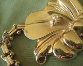 Escape to Paradise Vintage Gold Flower Necklace