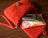 Crochet Pattern Felted Wool Clutch Purse Wristlet PDF Digital Crochet Pattern