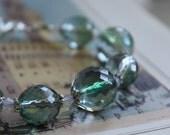 SALE - Beaded Bracelet, Faceted Glass, Pale Blue, Pink Opal, Elegant, Gifts for Her, Bridal, Wedding