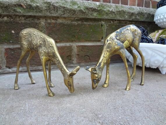 SALE 2 Gorgeous OLEE Brass Deer