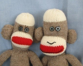 PDF - Knitted Sock Monkey Pattern - INSTANT DOWNLOAD