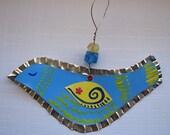 Sunshine Bird Ornament - Blue and Yellow