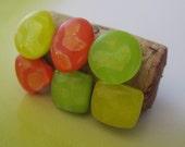 6 Citrus Cork Board Tacks