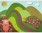 Plimpkin's Turnip Farm Print