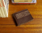 Recycled Leather Woodgrain Wallet