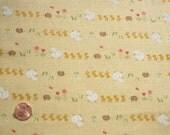 Yellow Sheep, Chicks and Hedgehog Fabric by Kokka 1\/2 yd. Japanese Fabric