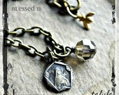 BLESSED II  ...  talula  ...  Urban Gypsy Religious Medal Charm Necklace
