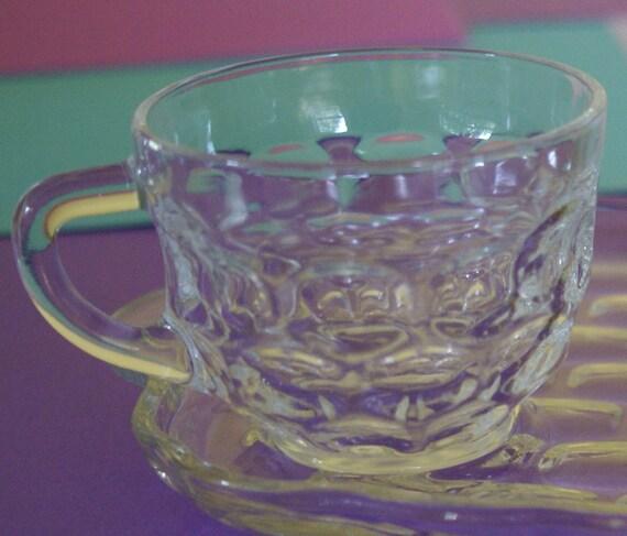 Vintage snack set federal glass yorktown by ruekream on etsy