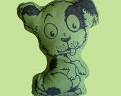 Pillowstrations Moss Green Puppy Dog Pillow Doll