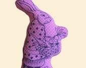 Pillowstrations Mother Bunny Rabbit Pillow Doll made with pink polka dot fabric