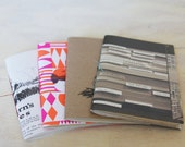 Handbound Recycled Mini Journals ... (Set of 2)