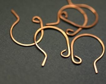 CEWR4-  Copper Earwires 4pair - Handmade