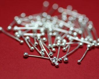 FSDH24/.5 Fine Silver  Double Headpins 24ct .5 inch - Handmade