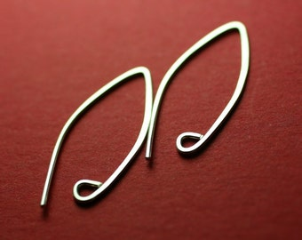 SEWA4- Sterling Silver Almond Earwires 8 pieces (4pr)