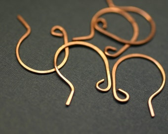 CEWR12- Copper Earwires 12 pair- Handmade