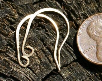 BEWR4-  Brass Earwires 4pair - Handmade