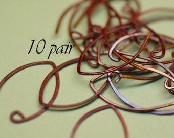 RCEWA10- Rosey Copper Almond Earwires 10pr