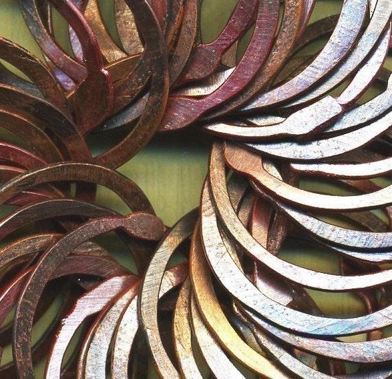 RCRR8/24- Rosey Copper Handmade Rings 8ct 23-24mm