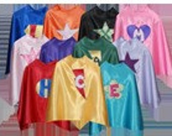 Set of 5 Personalized Custom Capes Kids Capes and (5) matching masks