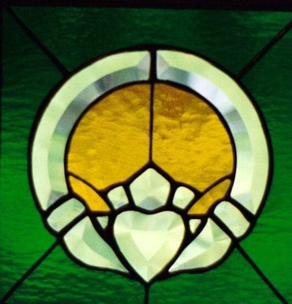 Irish Claddagh Stained Glass